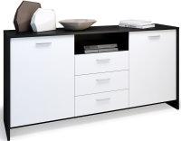 Sideboard Matera Schwarz matt und Weiß matt